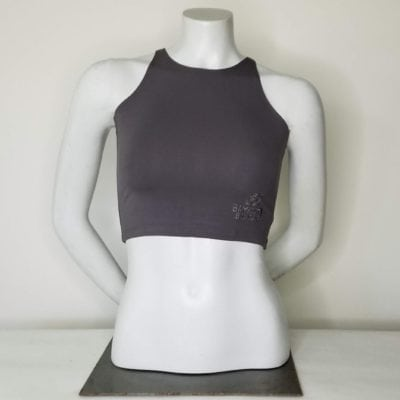 Bambooty Crop Top Slate Gray