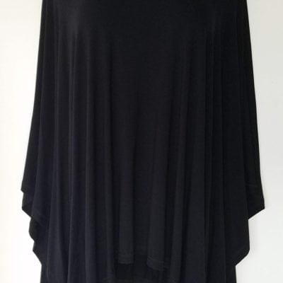 Bambooty Black Hooded Poncho