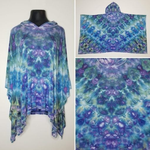 Bambooty Hooded Poncho Hand Dyed 01