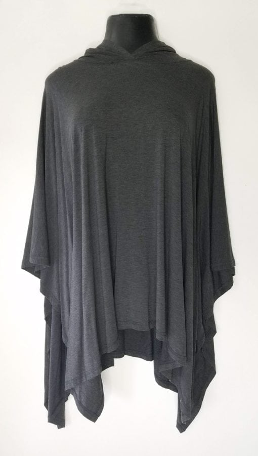 Bambooty Heather Gray Poncho