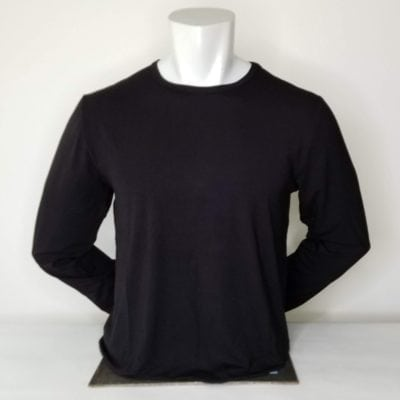 Men's Long Sleeve Crew Neck Black