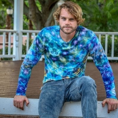 Bambooty Long Sleeve Crew Neck Hand Dyed Model