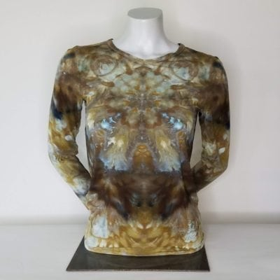 Bambooty Long Sleeve Vneck Hand Dyed