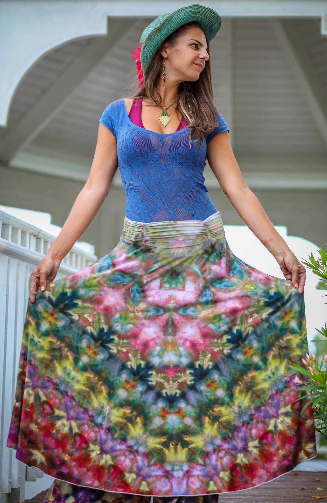 Bambooty Maxi Skirt Hand Dyed