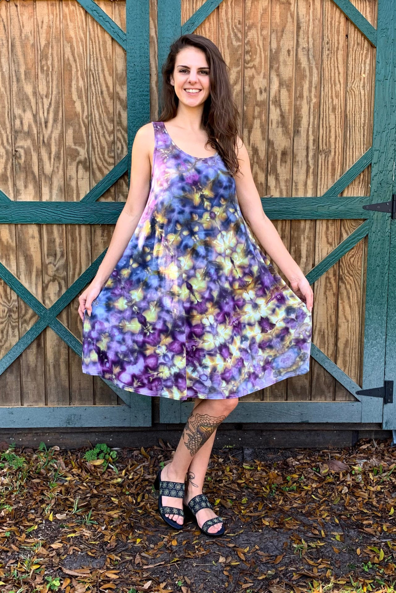 Bambooty-Swing-Dress-model