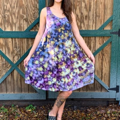 Bambooty-Swing-Dress-Hand Dyed